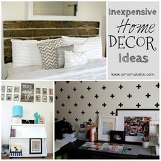 Unique and inexpensive ways to decorate your home. #amomstake