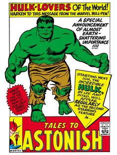 Tales to Astonish advert by Jack Kirby...