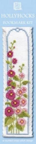 Hollyhocks Bookmark Cross Stitch Kit - Textile Heritage