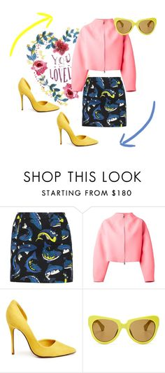 Its a circle by nektaria-frantzh on Polyvore featuring Kenzo, Schutz and Linda Farrow