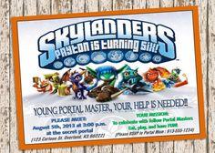 Skylanders swap force birthday invitation ghost by mindfulinvites skylanders birthday invitation filmwisefo