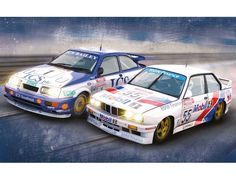 The Scalextric Touring Car Legends Ford Sierra RS500 and BMW E30 is a 1/32 scale slot car twinpack and is part of the Scalextric Limited Editions range.
