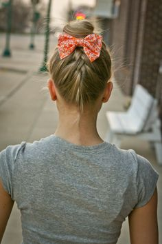 SummerSun Collection / Orange Sherbet Hair Bow