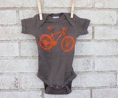 5bb058413 Mountain Bike Baby Bodysuit Onepiece by CausticThreads on Etsy