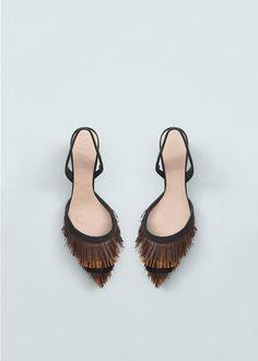 Sandalette mit fransen | MANGO