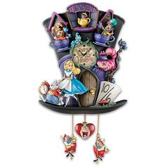 Disney Discovery- Alice in Wonderland Cuckoo Clock by The Bradford Exchange, Light and Motion