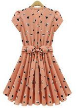 To find out about the Light Orange Short Sleeve Apple Print Bandeau Pleated Dress at SHEIN, part of our latest Dresses ready to shop online today! Pretty Outfits, Cute Outfits, Cute Dresses, Dresses For Work, Dresses 2013, Women's Dresses, Party Dresses, Dresses Online, Look Fashion