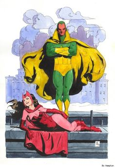Scarlet Witch and the Vision - Bo Hampton