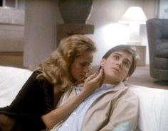 ONCE BITTEN, Lauren Hutton, Jim Carrey, 1985 | Essential Film Stars, Jim Carrey http://gay-themed-films.com/film-stars-jim-carrey/