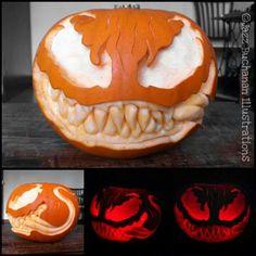 Lot of work. but awesome Pumpkin halloween pumkin ideas Scary Pumpkin Carving, Halloween Pumpkin Carving Stencils, Halloween Pumpkin Designs, Scary Halloween Pumpkins, Amazing Pumpkin Carving, Pumpkin Carving Templates, Pumpkin Painting, Carving Pumpkins, Herbst Bucket List