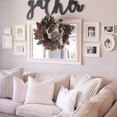 I'm ready for a nap. I'd love to just plop down on the couch and hit some zzz's but my 1 year old shows no signs of stopping!  Maybe I'll wear him out with another Home Goods trip  . . #livingroom #livingroomdecor #pillows #gather #farmhousestyle #fixerupperstyle #hgtv #freshstyledhome #cozyhome #countryliving #decor #style #cozy #apartmentstyle #gallerywall #homegoods #home #homegoodsfinds #ikea #ektorp #simplywhite