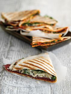 These quick and easy Italian-style sandwiches are ready in just 10 minutes – go get your griddle pan hot!