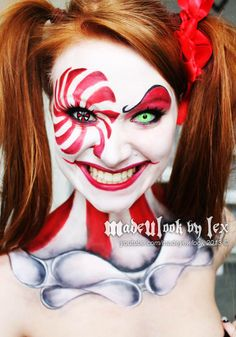 Clown Makeup: Made U Look by Lex . Great inspiration for aalborgkarneval.dk