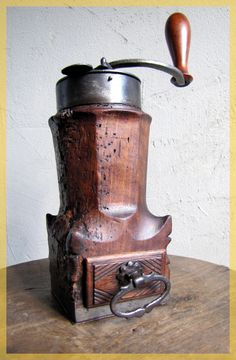 http://www.idecz.com/category/Coffee-Grinder/ FRENCH Very Old Coffee grinder LOUIS XIV ca.1750  $3500 on ebay