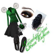 """Eliisabet Tepes' Slytherin Uniform"" by kaybae-94 on Polyvore"