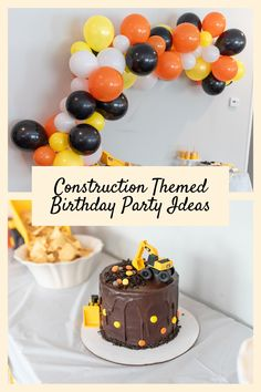 3rd Birthday Cakes For Boys, Truck Birthday Cakes, 2nd Birthday Party Themes, 4th Birthday, Digger Birthday Parties, Digger Birthday Cake, Digger Cake, Digger Party, Construction Party Cakes