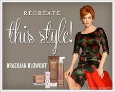 Find out how you can look as polished as Joan with Brazilian Blowout. Brazilian Blowout, Mad Men, The Incredibles, Tips, Blog, Hair, Inspiration, Style, Fashion