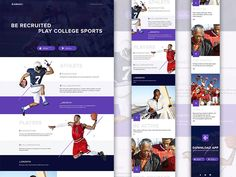 Landing Page Template for Sports App - Free sketch resource for download #sketchhint #sketch #resource #app #freebie #free