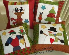 New sewing projects christmas stocking ideas Christmas Applique, Felt Christmas, All Things Christmas, Christmas Stockings, Xmas, Santa Ho Ho Ho, Christmas Sewing Projects, Winter Quilts, Quilt Patterns