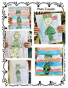 Veteran's Day Directed Drawing by First and Kinder Blue SKies Free Veterans Day, Veterans Day Activities, Classroom Activities, Classroom Ideas, Drawing For Kids, Drawing S, My Drawings, Art For Kids, First Grade Art