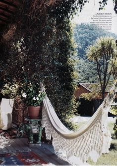 Hammock - which could also be a bed skirt when not in use outdoors! :)