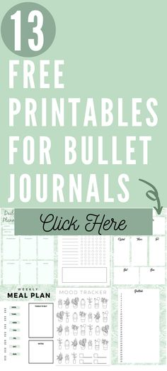 Free bullet journal printables. Free planner printables. Click here to download these free printables. These free printables are perfect for bullet journals or planners. #Bulletjournalprintables #Freeplannerprintables #Refillablejournal #Planner #Bujo Bullet Journal Digital, Bullet Journal Free Printables, Bullet Journal Layout Templates, Bullet Journal Books, Bullet Journal Ideas Pages, Journal Pages, Journal Notebook, Free Planner, Printable Planner