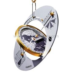 The ICARUS is the first portable sundial which you can adjust for our modern, time-zone-regulated time. You can read off Central European Time (CET) or the standard time in any other time zone in the world. It will also display summer time (daylight saving time), as frequently used in various parts of the world.