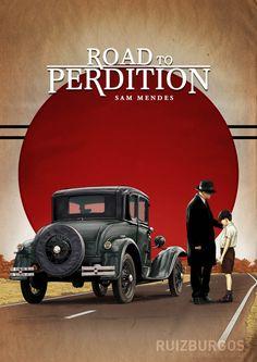 Fan art Camino a la Perdición (Road to Perdition) #CaminoalaPerdicion #RoadtoPerdition #Cine #Mafia #CosaNostra #Movies #MafiaMovies #Gangsters