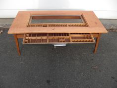 coffee tables with display cases | Hand Made Collectors Coffee Table by Kevin Mack Fine Furniture ...