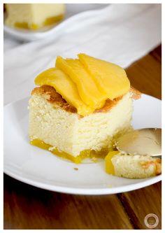 Pastel de mango y chocolate blanco