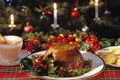 Plum pudding is a traditional Irish cake served with brandy sauce on Christmas Eve.