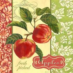 Vintage Cards, Vintage Paper, Vintage Images, Vintage Prints, Vintage Posters, Fruit Art, Decoupage Paper, Kitchen Wall Art, Journal Cards