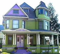 Victorian home in Johnstown,New York Exterior Paint Colors For House, Paint Colors For Home, Exterior Colors, Paint Colours, Exterior Design, Woman Painting, House Painting, Painted Lady House, Victorian Style Homes