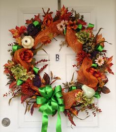 Large Fall Autumn Harvest Thanksgiving Door by ArtisticFloral