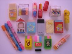 Erasers, loved the scented ones ! 90s Childhood, My Childhood Memories, Best Memories, Eraser Collection, Toy Display, Toy R, Ag Dolls, I Am Awesome, Nostalgia