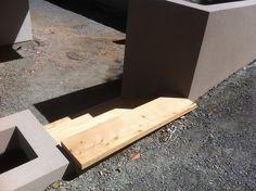 Landscape: Garden Stairs. Construction work for David Travalia Architect. (New House) 2011/12.