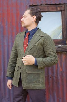 Waxed Cloth BlazersMade to MeasureEditions36 by MacheteNSons