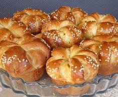 Sajtos kalácsok muffinformában : a reggeli és az ünnepei asztal kelléke lehet a kelt tésztás, sajtos finomság, amit muffinformában sütünk