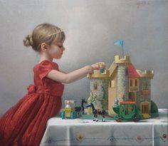 stephen gjertson art | Stephen Gjertson, Cinderella Dreams, oil on canvas