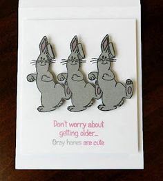 Hilarious! Great way to use bunnies for more than just Easter.