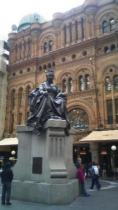 Queen Victoria Building & statue #Sydney #Australia
