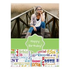 Unique And Special 95th Birthday Party Gifts Postcard - pattern sample design template diy cyo customize