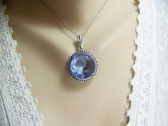 Light Blue Sapphire Necklace Sapphire by CreatedinTheWoods on Etsy, $27.95