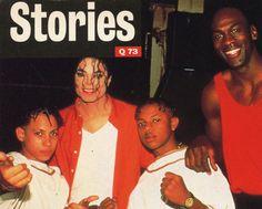Michael Jackson, Kriss Kross & Michael Jordan, Q Magazine, 1992.