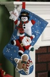 Bucilla ® Seasonal - Felt - Stocking Kits - Christmas Stars. #bucilla #stockings #christmas #plaidcrafts