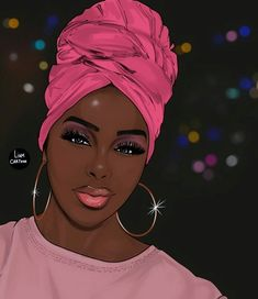 Image may contain: one or more people and closeup Sexy Black Art, Black Love Art, Black Girl Art, My Black Is Beautiful, Art Girl, Black Girl Magic, Black Girl Cartoon, Dope Cartoon Art, Black Art Painting