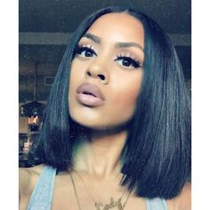 Brazilian Virgin Hair Straight 3 Bundles With 1Pc Brazilian Straight... ❤ liked on Polyvore featuring beauty products and haircare