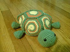FREE Crochet Pattern  Cute Tortoise   Feng Shui decoration idea (in a variety of colors)