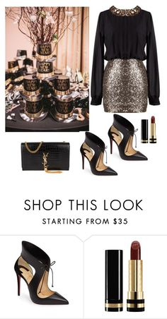 """Ready for the Big Party!"" by kotnourka ❤ liked on Polyvore featuring Christian Louboutin, Gucci and Yves Saint Laurent"