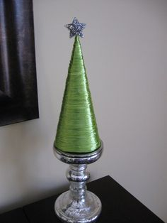 Raffia Cone Christmas Tree: Tutorial